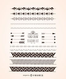 Elegant hand drawn dividers