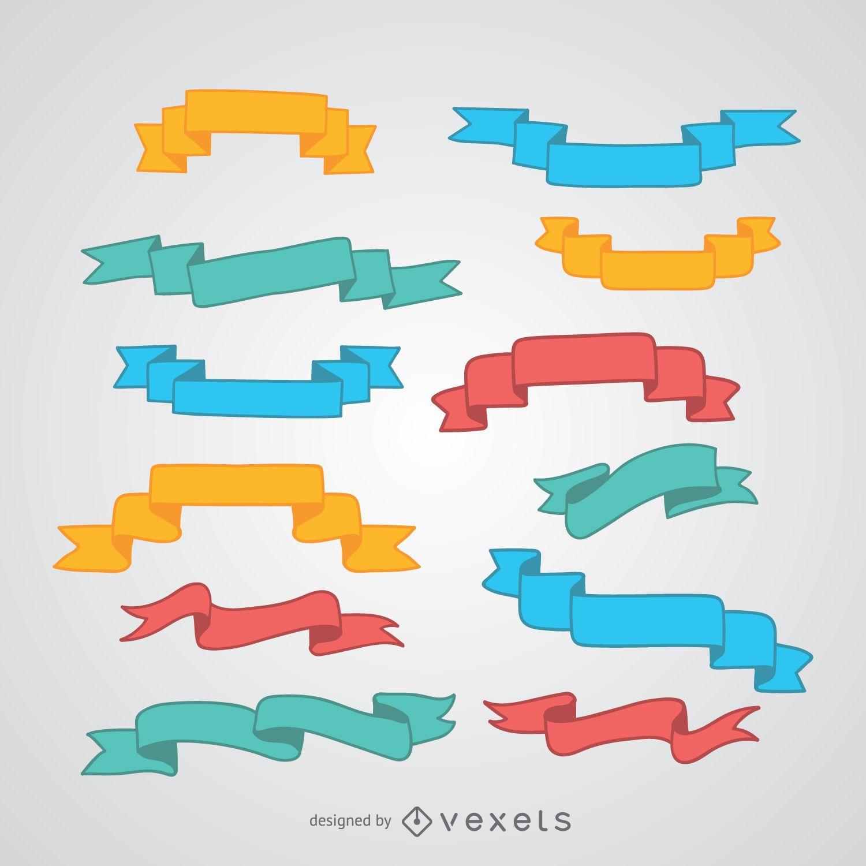 Conjunto de cinta de colores