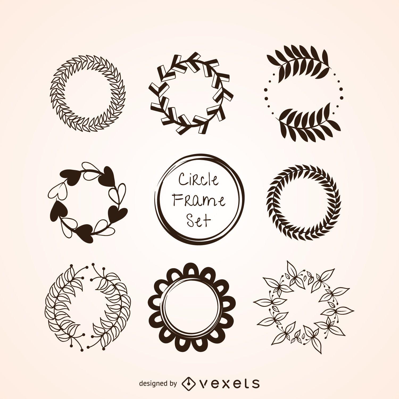 Conjunto de adornos circulares