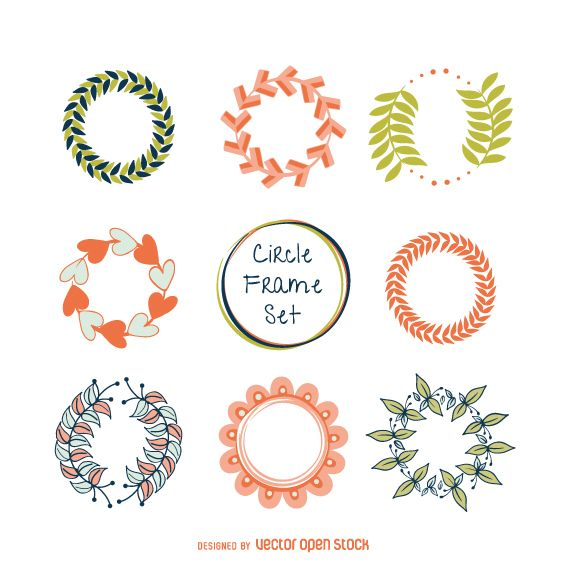 Pastel tones frame set