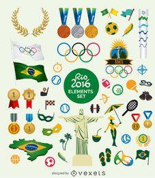 Conjunto de elementos Rio 2016