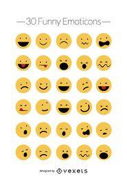 Lustige Emoticons-Vektorsatz