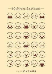 Emoticons delinear coleção