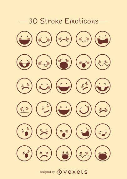 Emoticons Gliederungssammlung