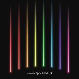 lasers coloridos vigas