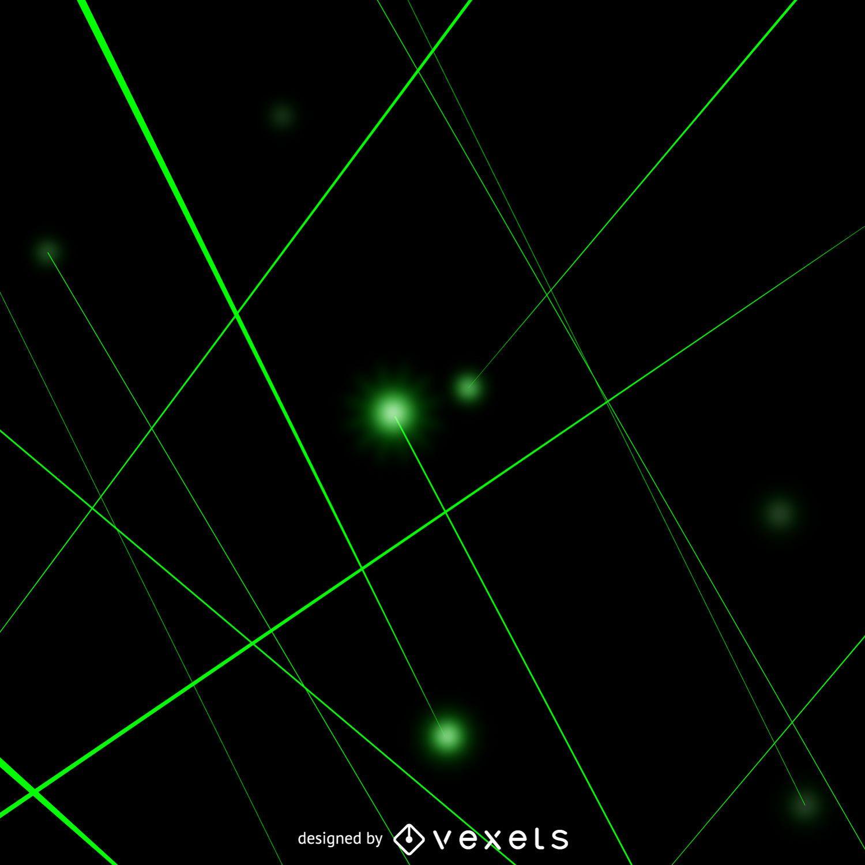 Rayos láser verdes
