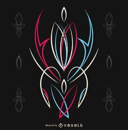 Diseño de rayas rosa y azul