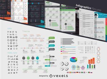 Kit de currículum infográfico