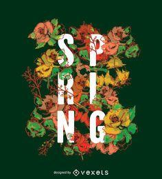 Typografische Frühlingsschildtapete