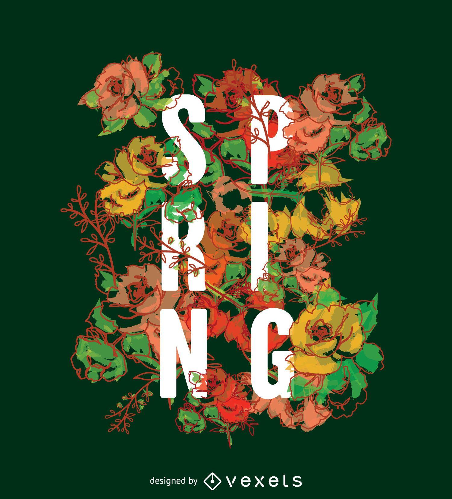 Papel de parede de sinalização tipográfica da primavera