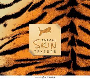 Textura realista de pele de tigre