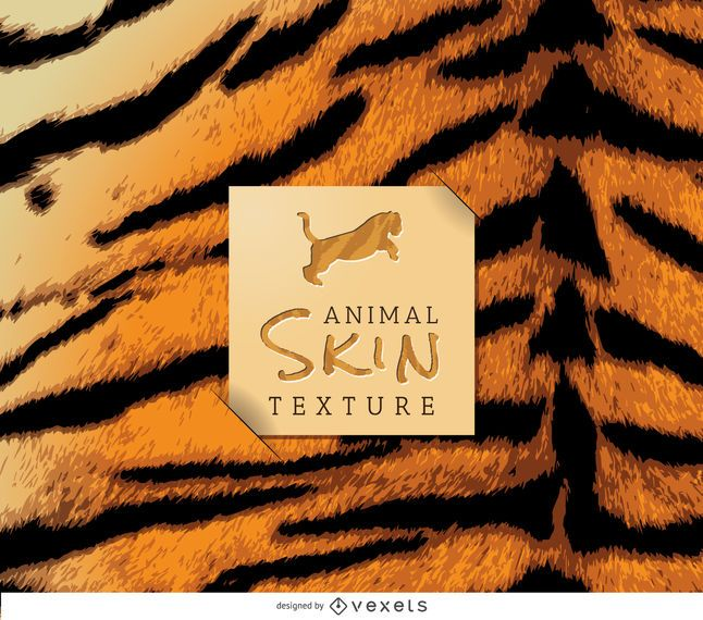Realistic tiger skin texture