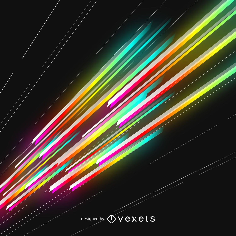 Feixes de lasers brilhantes