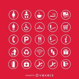 Conjunto de iconos de señales de servicio