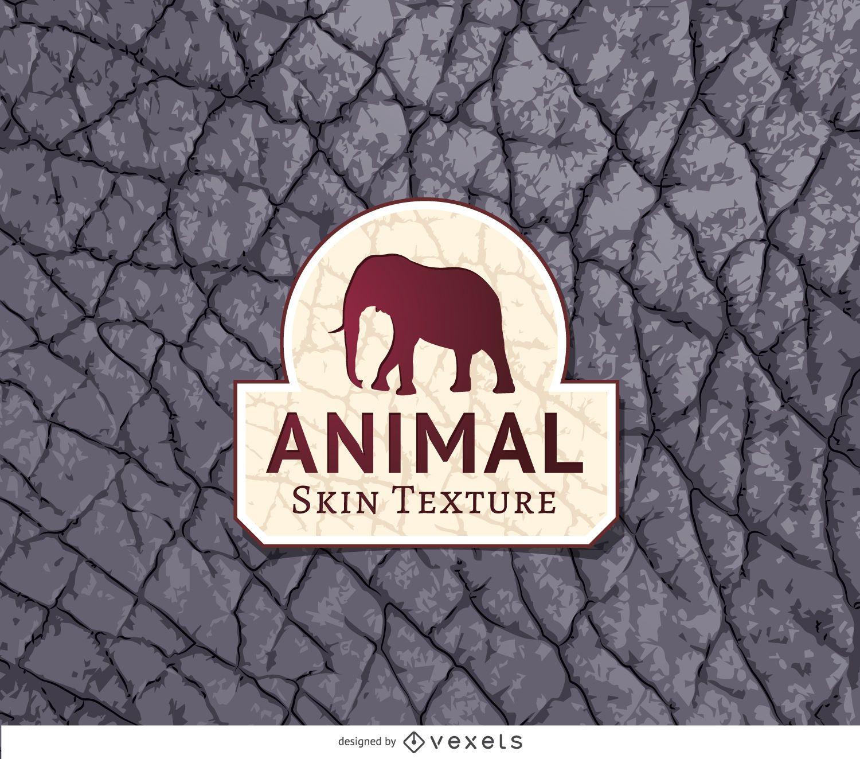 Textura de piel de elefante gris