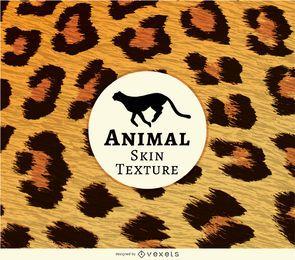 Textura realista de pele de leopardo