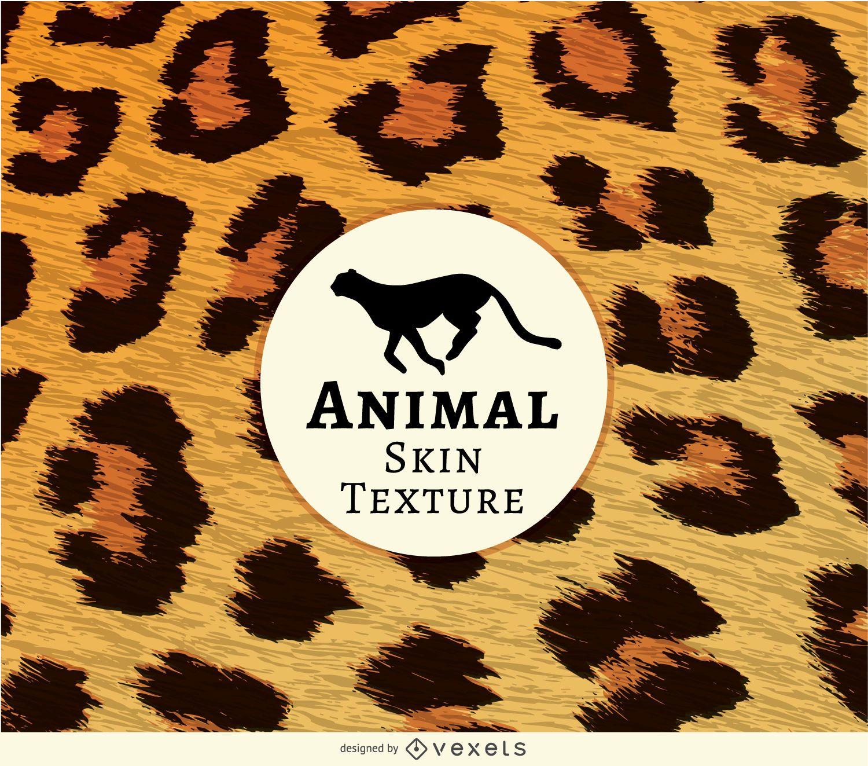 Textura de piel de leopardo realista