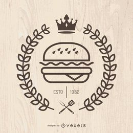 Hispter emblema de comida rápida