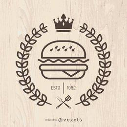 Hispter fast food emblem