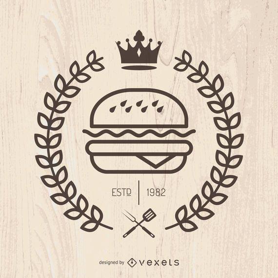 Hispter Fast-Food-Emblem