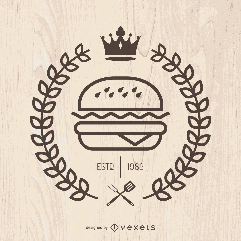 Emblema de comida rápida hispter