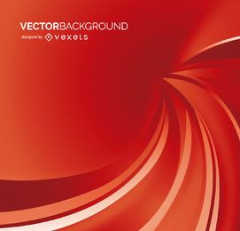 Fondo rojo con ondas abstractas.