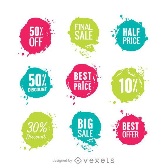 Adesivos de venda de cores brilhantes