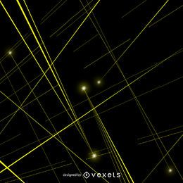 laser amarelo vigas vector
