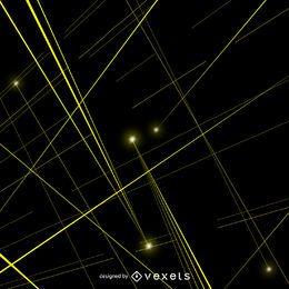 Vetor de feixes de laser amarelo