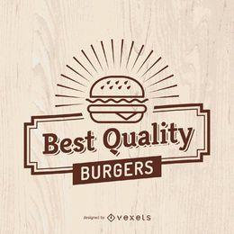 Sinal de fast food vintage