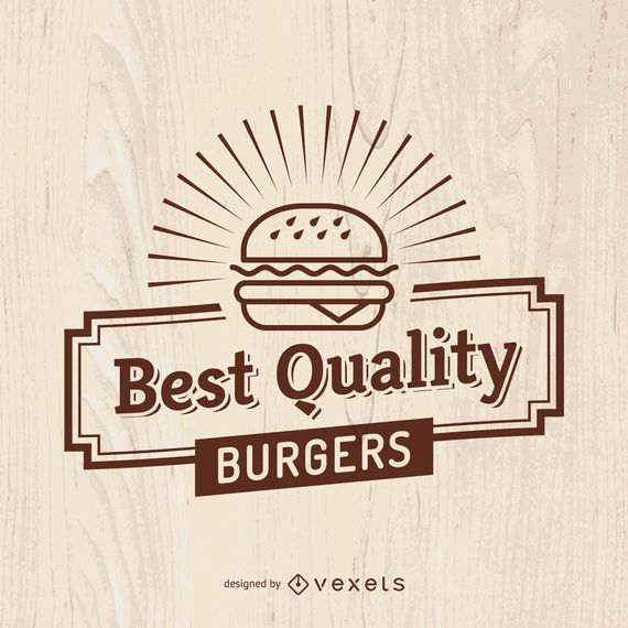 Signo de comida rápida de la vendimia