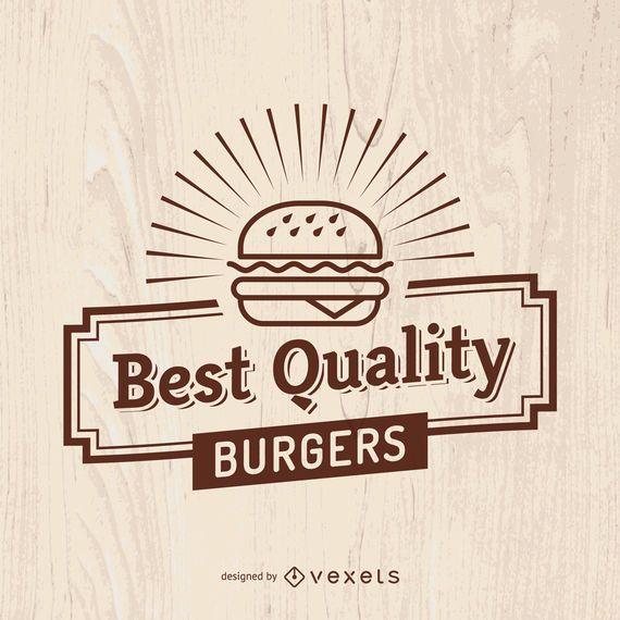 Vintage Fast-Food-Zeichen