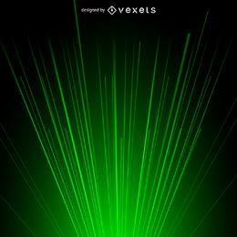Fundo de luz de feixe de laser verde
