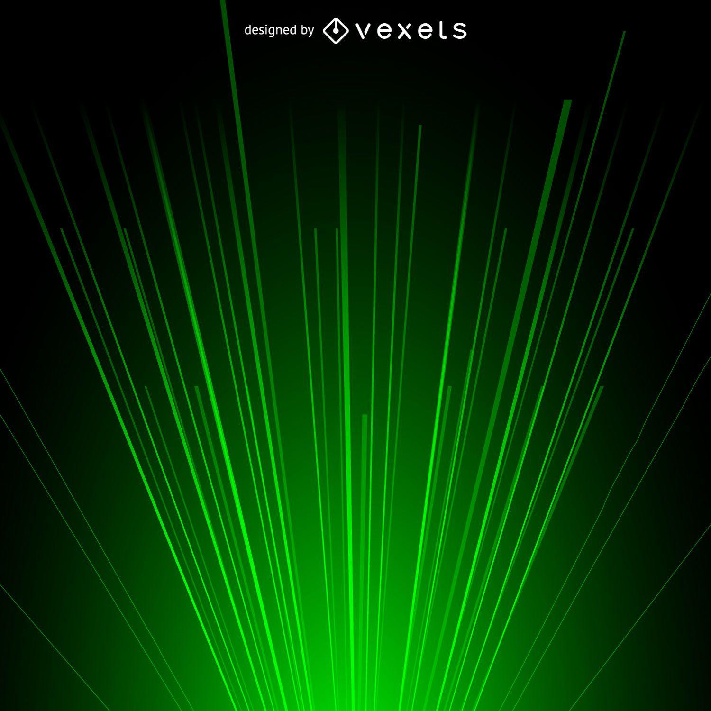 Fondo de luz de rayo l?ser verde