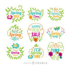 venta conjunto de vectores de primavera