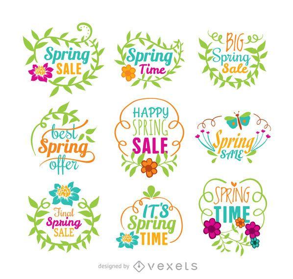 Conjunto de vectores de venta de primavera