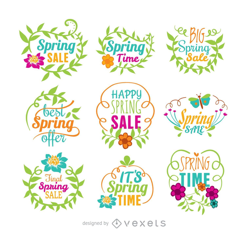 Conjunto de vector de venta de primavera