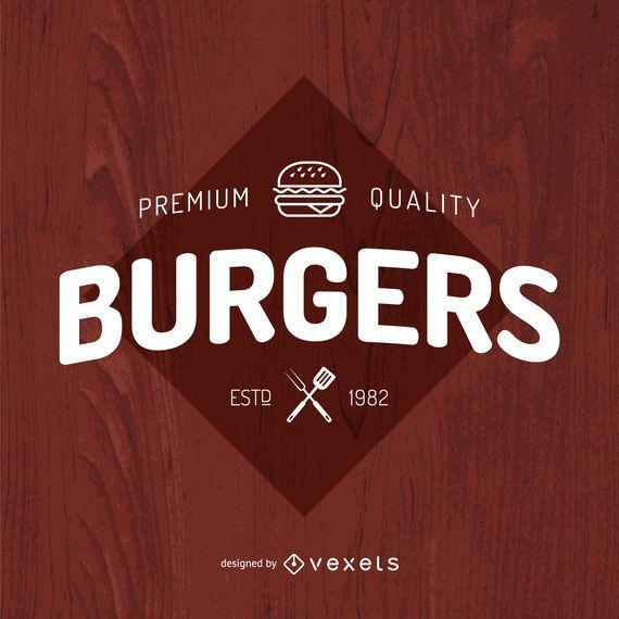 Design de logotipo de hambúrgueres