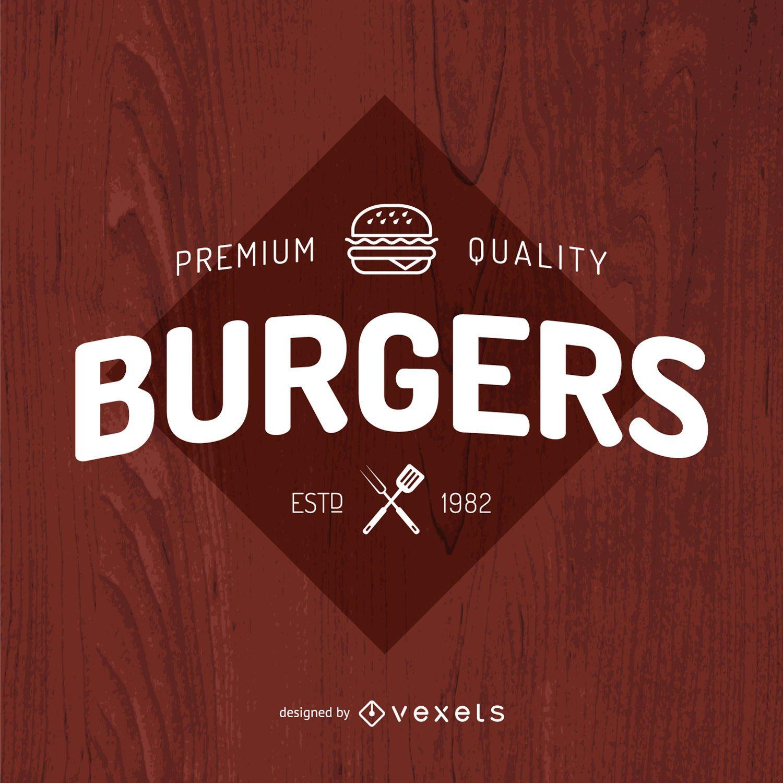 Design do logotipo da Burgers