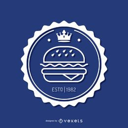 Circular fast food insignia