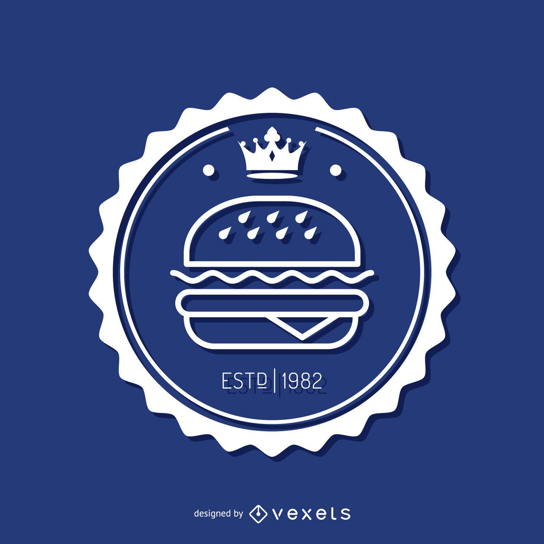 Insignia circular de comida rápida