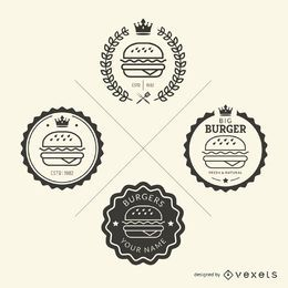 Set von Fast-Food-Emblemen