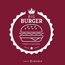 Weißes Burger-Emblem