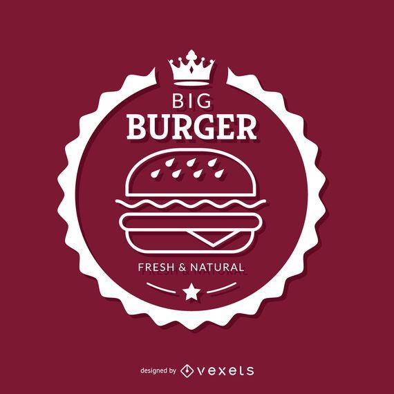 Emblema de hambúrguer branco