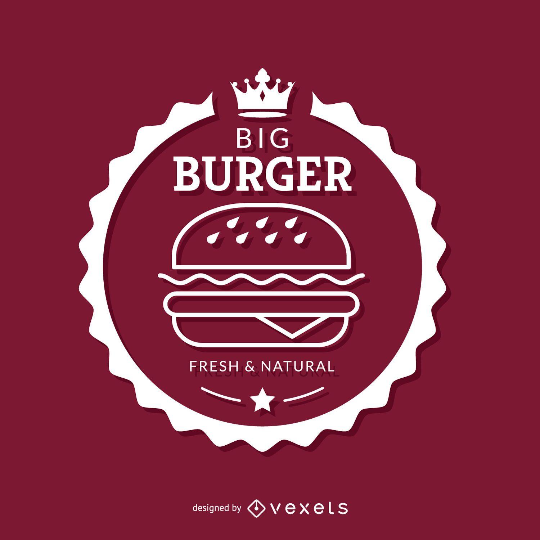 Emblema de hamburguesa blanca