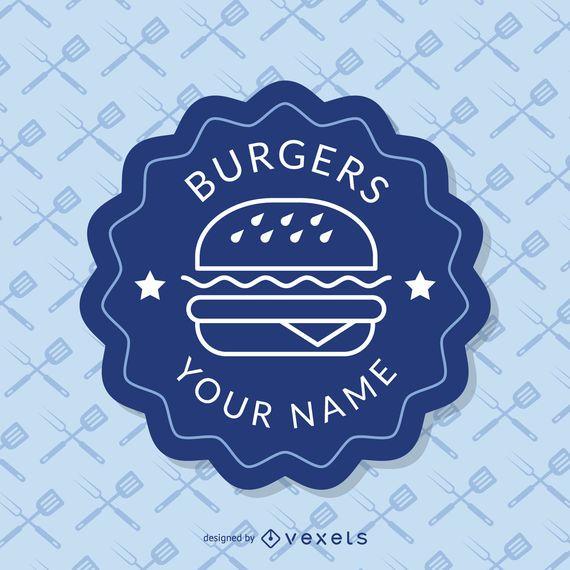 Insígnia azul fast food