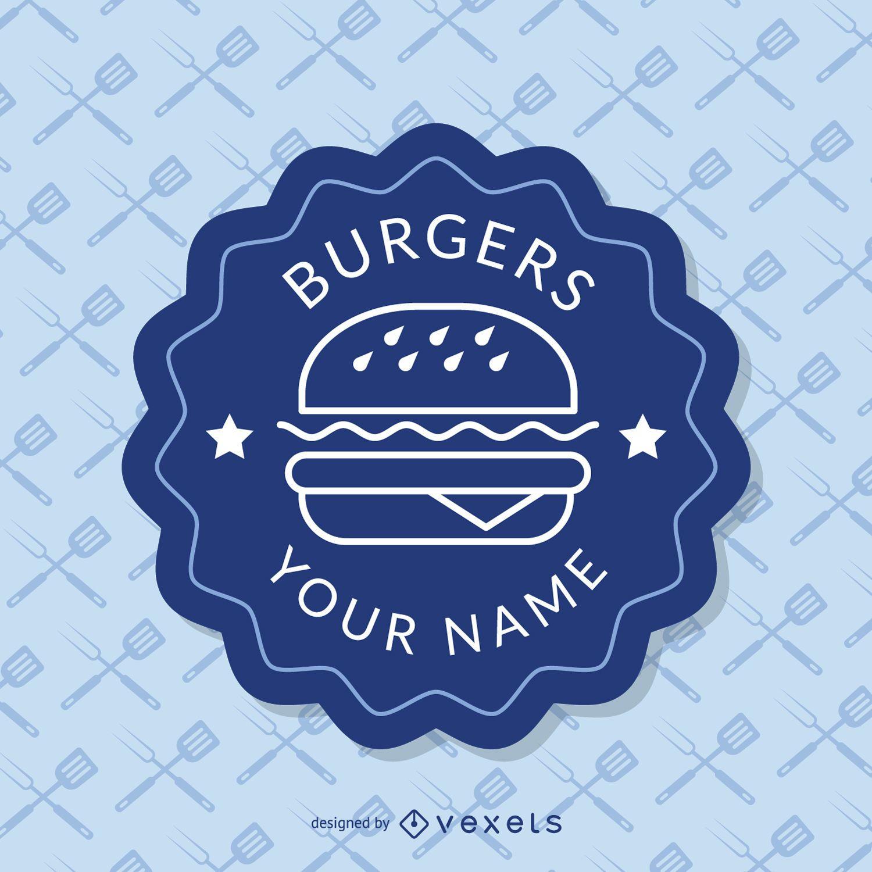 Insignia azul de comida rápida