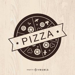 Design de logotipo pizza vintage