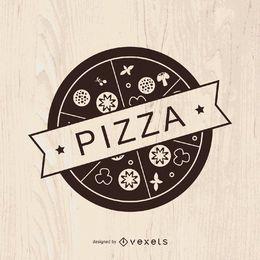 Diseño de logo de pizza vintage