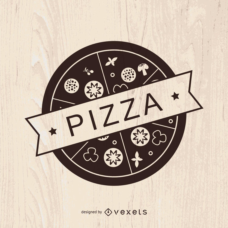 Vintage pizza logo design - Vector download